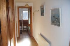 Hallway to rear porch